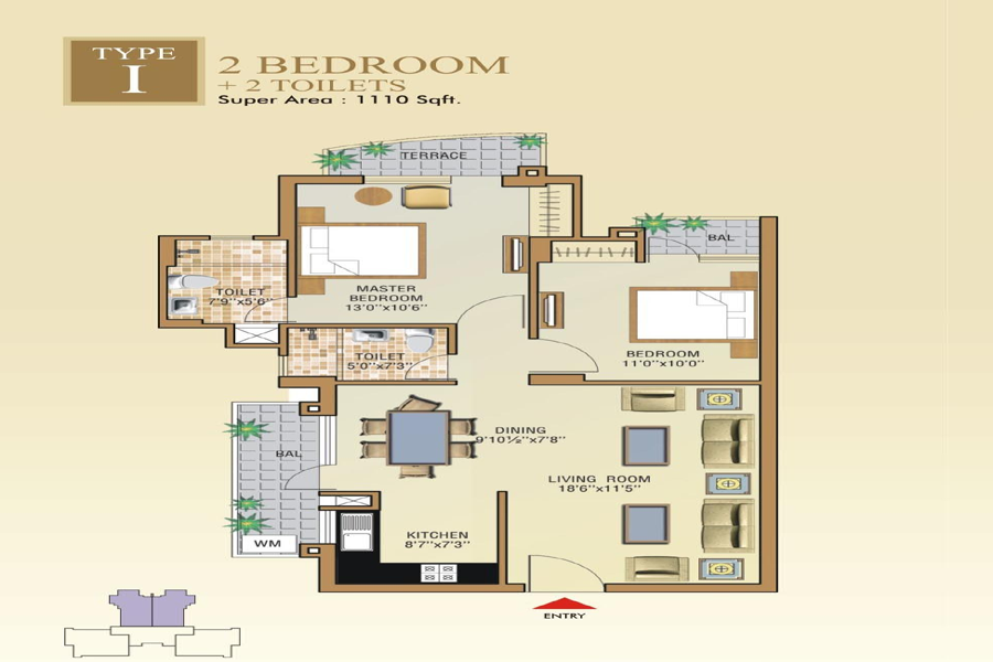 2 BHK Property for sale by Aditya GZB - makaan.com