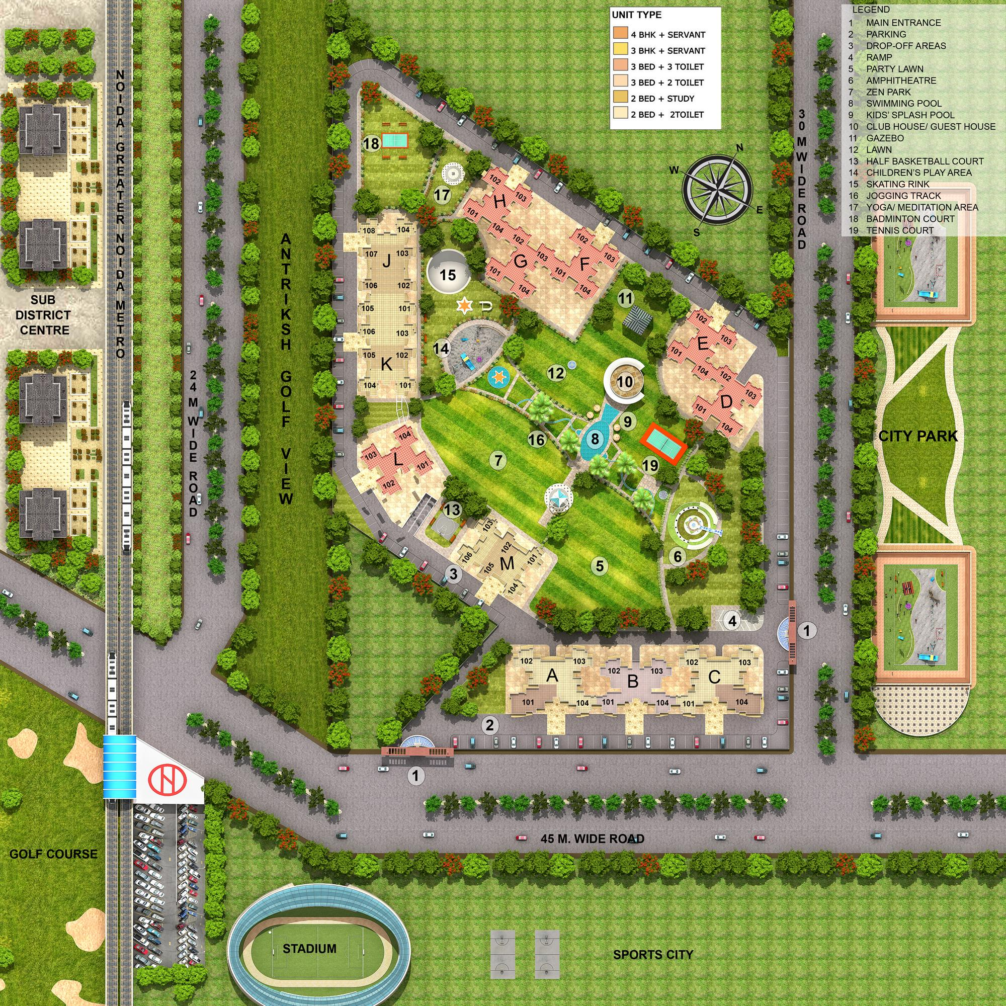 Golfview Apartments: Antriksh Golf View 2 Resale Price Flats In Noida Sector 78