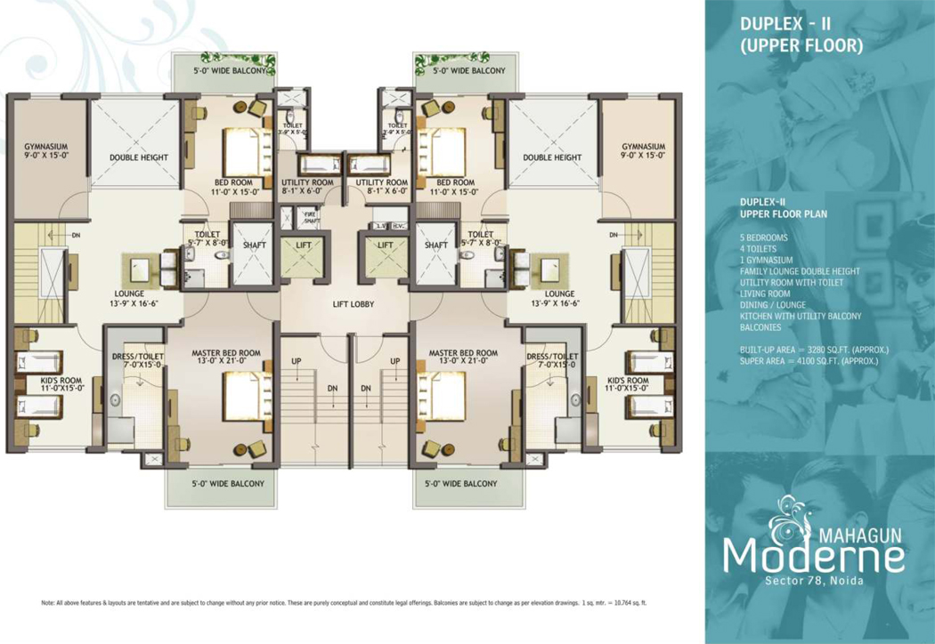 Mahagun moderne resale price flats noida sector 78 ready for 100m2 apartment design