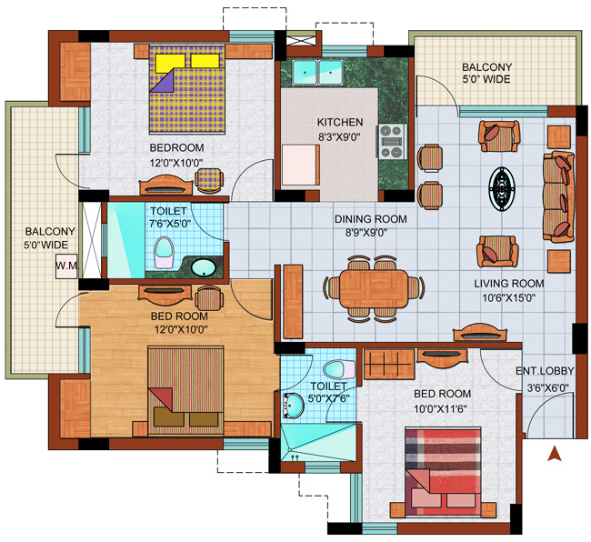 Purvanchal royal park resale price noida sector 137 ready for Best flooring for resale value